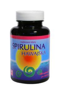 spirulina hawajska w tabletkach w dużym opakowaniu